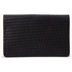 FOREVER 21 Oversized Woven Fold-Over Clutch found on Polyvore
