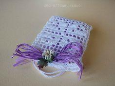 Sacchettino con quadrifoglio: wedding crochet