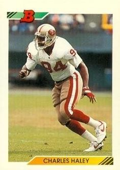 Charles Haley Football Card (San Francisco 49ers) 1992 Bowman #540 by Hall of Fame Memorabilia. $30.95. Charles Haley Football Card (San Francisco 49ers) 1992 Bowman #540. Signed items come fully certified with Certificate of Authenticity and tamper-evident hologram.