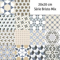 Carrelage imitation anciens carreaux de ciment décor formes géométriques 20x20 cm Decor, Deco, Home Deco, Flooring, Vintage