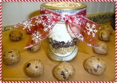 cookie dough bites gift in a jar.