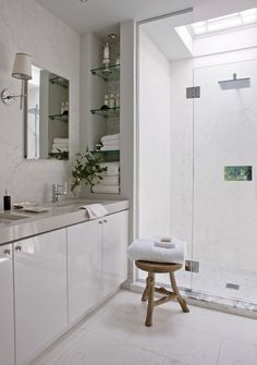 Bright & White Principal Bathroom // photo Jean Longpré // from Maison & Demeure November 2010 issue