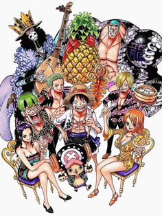 """icantbelieveimadeanaccount: """" From One Piece Exhibition in Taiwan 2014 Robin is drinking bubble tea, Nami is eating mango shaved ice, Sanji is serving xiaolongbao and Luffy is holding squid on a stick. One Piece Manga, Nami One Piece, One Piece Fanart, Manga Anime, Manga Art, Anime Art, One Piece Images, One Piece Pictures, Zoro"""