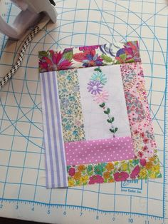 Quilt blocks made from vintage embroidery