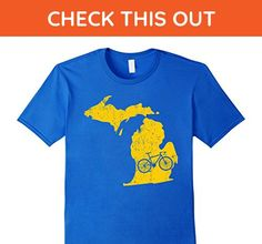 Mens Michigan Home State Bike | Ann Arbor | Cycling Gift & Shirt 2XL Royal Blue - Sports shirts (*Amazon Partner-Link)