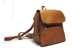 LeDonne Leather Vacquetta Leather Women's Everything Backpack/Purse 351-TN | Luggage Pros