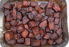 Smoked Pork Belly Burnt Ends (recipe and video) - Vindulge