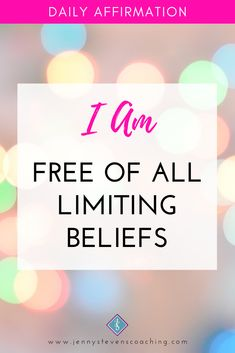 #DailyAffirmation - I am FREE of all Limiting Beliefs Positive Affirmations For Success, Daily Affirmations, Positivity, Motivation, Free, Daily Motivation, Determination, Motivation Wall, Inspiration
