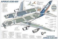 Airbus Cutaway Poster from Flightglobal Image Store, Cutaway-Poster Airbus A380 Cockpit, A380 Aircraft, Boeing 777, Lufthansa Pilot, Airplane Drawing, Double Deck, Aircraft Design, Wide Body, Air France