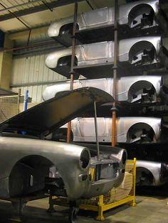MG Midget Bodyshells - Being Assembled by British Motor Heritage