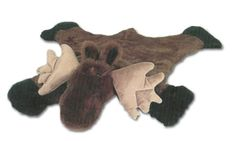 Small Plush Moose Rug