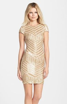Dress the Population 'Tabitha' Geometric Sequin Minidress