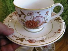 Noritake Hofgarten pattern. teacup saucer 3 sets very good For other china, please visit: https://www.etsy.com/shop/ChinaGalore?section_id=11143954&ref=shopsection_leftnav_1 Noritake Progression China in the Hofgarten Pattern was in production from 1979-85. These 8 ounce teacups