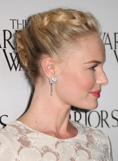 Kate Bosworth Updo Hairstyle: Braided Twist
