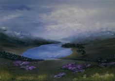 After the winter in Lakes. Contemporary original oil on canvas by Nella Alao