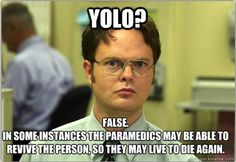 "YOLO Meme// as much as i *really* dislike the office and *really* dislike the term ""yolo"", i must admit- this did make me laugh. ;)"