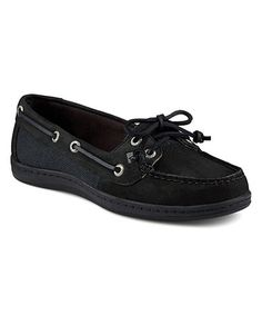 Love this Black Firefish Core Leather Boat Shoe on #zulily! #zulilyfinds