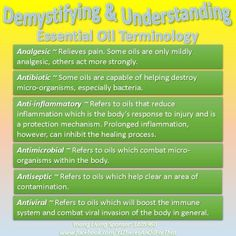 Young Living Essential Oils: Terminology Oils work without toxic side effects like medications!  www.NaturalHealingwithOils.com