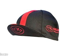 Cinelli Columbus Black/Red Cotton Cycling Cap Vintage Retro Fixie Made in Italy 4