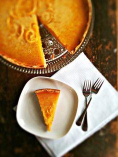sweetsugarbean: Meyer Lemon Honey Tart with Salted Shortbread Crust