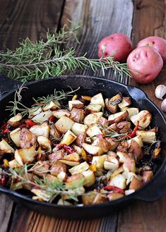 Thanksgiving Side Dish Recipe: Roasted Rosemary Potatoes with Onions.