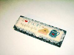 Valarie Sockwell pencil box Folk Art Original by AuntJennysAttic