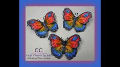 How to colour in a butterfly -Tutorial - Video Tutorials, My Etsy Shop, Paper Crafts, Butterfly, Colour, Crafty, 3d, Studio, Cards