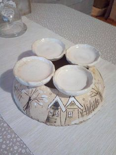Ceramic Light, Clay Crafts, Zentangle, Vintage Christmas, Polymer Clay, Decorative Plates, Advent Wreaths, Xmas, Pottery