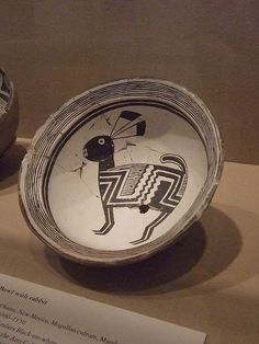 Ceramic Bowl Mogollon culture Mimbres people 1000-1150 CE New Mexico