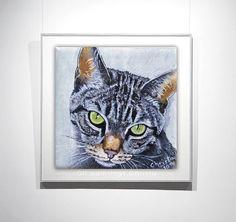 Cat Portrait Oil by OilpaintingsChrista