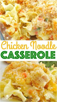 Chicken Noodle Casserole recipe from The Country Cook. Easy and a huge family favorite. Chicken Noodle Casserole recipe from The Country Cook. Easy and a huge family favorite. Dinner Casserole Recipes, Casserole Dishes, Dinner Recipes, Dinner Ideas, Chicken Noodle Casserole, Hamburger Casserole, Easy Appetizer Recipes, Country Cooking, Cookies Et Biscuits