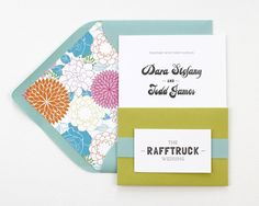 Bold and Modern Wedding Invitations by Rafftruck Designs via Oh So Beautiful Paper (1)