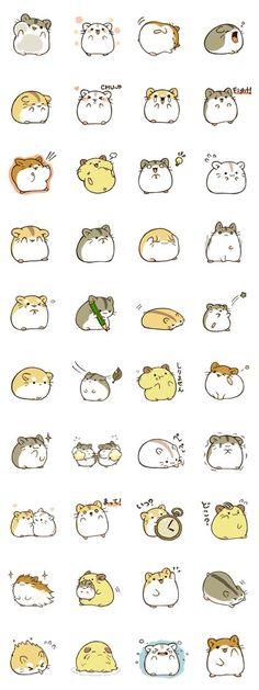 It is second phase of the hamstamp.The hamster will make your LINE life more pleasant. It is second phase of the hamstamp.The hamster will make your LINE life more pleasant. Cute Animal Drawings, Kawaii Drawings, Cute Drawings, Doodles Kawaii, Cute Doodles, Kawaii Stickers, Cute Stickers, Anime Stickers, Griffonnages Kawaii