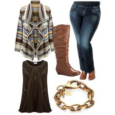 """Plus size style: warm tones and textures for autumn. By Tracey Sims."" by hamtowntracey on Polyvore"