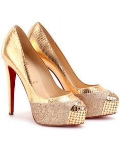 christian louboutin glitter and metallic snakeskin maggies - one of my favourite style of maggies
