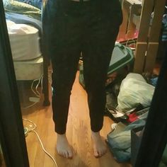 Soccer pants. Have had them since freshman year and have grown short and small on me. Very comfortable and good for layering on cold days. Pants