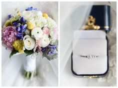 Colorful Wedding Bouquet Inspiration, Wedding Details, Diamond Engagement Ring, Candice Adelle Photography, Stone Tower Winery Wedding, VA Wedding