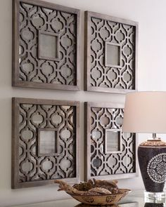 "Two ""Sorbolo"" Wall Decor at Neiman Marcus : inspiration to create geometric wall art using empty frames                                                                                                                                                                                 Más"