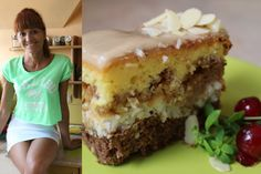 Ciasto z jabłkami, z kokosem i polewą chałwową [Kuchniarenaty]