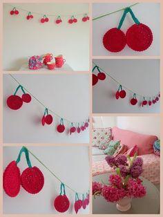 crochet cherry garland. hakenenmeer.blogspot.com