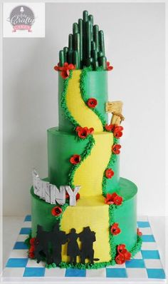 Wizard of Oz cake - For all your cake decorating supplies, please visit craftcompany.co.uk