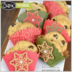 Sizzix Tutorial | Christmas Cookie Pockets by Adrianne Surian