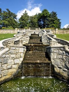 Maymont Japanese Garden in Richmond, Virginia.  One of several gardens in Maymont Park.