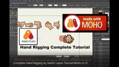 Complete Hand Rigging by Switch Layers Tutorial Moho Pro 12 | Anime Stud...