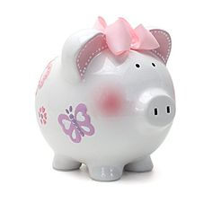 Our #piggy bank has a simple but memorable color palette. Our piggy banks are made #from only the highest quality porcelain and feature a base that is deep glazed...
