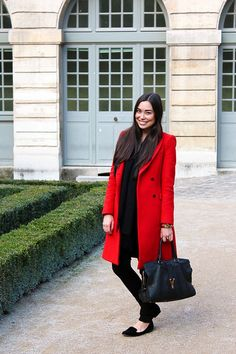 Zara red double brea