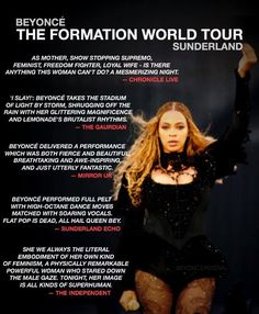 Beyonce Reviews From Formation World Tour Stadium Of Light Sunderland 28th June 2016