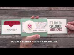 Double Slider Gift Card Holder - Creatin' With Kirsteen