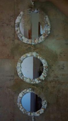 Espelhos com moldura feito com Conchas