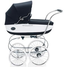 Inglesina Classica Pram in Vernice from PoshTots.   I would do anything for this. Love the vintage look